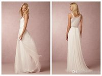 Cheap 2015 Modest A Line Bohemian Wedding Dresses Grecian Style Beach Bridal Gowns Scoop Neck Satin And Tulle Vintage Wedding Gowns Cheap AH06