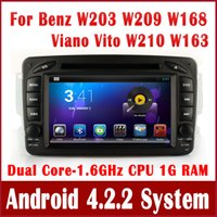 Android car audio dvd - Android Car DVD Player Radio GPS Navigation for Mercedes Benz W203 Viano Vito CLK C208 C209 W208 W209 W210 W168 BT Audio Tape Recorder