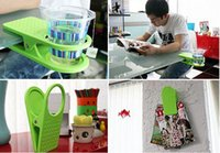 Wholesale 2015 Table Desk Water Cups Clip Drink cup Glass Cup Holder Mug Home Office Room Tumblerful Glass Clamp Water Stand Clip HHA53
