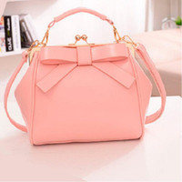 Wholesale spring and winter new handbag shoulder hand Messenger bag Bow sweet lady fashion handbags fashion handbag bow handbag