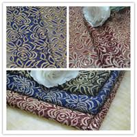 Wholesale 2015 Gorgeous Thread Lace Fabrics French Lace Fabric Warp Knitting Clothing Wedding Dress Fabric Flower Pattern MOQ yards