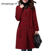 cheap trench coat solid color long style o neck single breasted full sleeve women casual - Manteau Femme Color