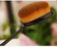 Wholesale New toothbrush style Oval Cream Power Makeup Brush Puff Cosmetic Foundation Blend Beauty Brushes Woman Make Up Tools