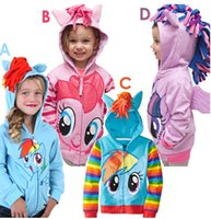 Wholesale Retail My little pony girl children zipper hooded Outwear Coat Girls Hoodies Sweatshirts kids Baby long sleeve hoody Jackets clothing