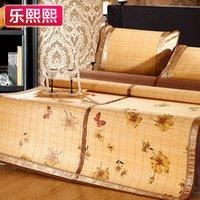 bamboo flowers bedding - Butterfly flower bamboo mat double faced folding mats three piece set m double bamboo cool bed mat