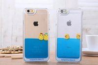 duck swim - Flowing Liquid Swimming Yellow Duck Clear Cover Case for iPhone Plus iPhone S S plus