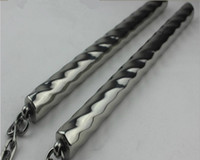 Wholesale Round head threaded stainless steel nunchakus outdoor car self defense