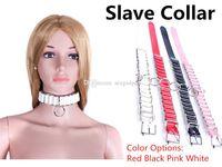 Wholesale Female Slave BDSM Bondage Neck Sex Collar Adjustable Collars Restraints Gear Fetish Adult Toys for women