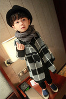 Wholesale Children Cotton Plaid Sweater Outwear For Winter New Arrival Girls Soft Cardigan Fashion Boys Clothing Fit Age SS963