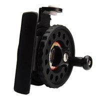 Wholesale 4pcs BB Enhanced Nylon Ice Fishing Reel mm Gear Ratio Lightweight g oz Black Ice Fishing Vessel Wheel