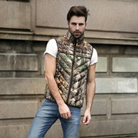 Wholesale Fall Fashion men outdoor d camouflage white duck down vest gilet homme mens outdoor military army waistcoat outerwear chaleco hombre