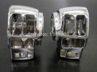 Wholesale 2pcs Chrome Switch Housings Cover For Harley FLTCU FLHTCU FLTR FLHRCI FLHR FLHT switch kit