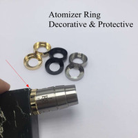 attached rings - Atomizer Decorative Ring Metal Adapter MM Adaptor Bottom Attached thread Connector for Protective Mech Mod Vapor RDA RBA Silicone DHL