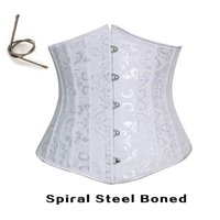 Cheap Free shipping!! Full Steel Boned Corsets Wedding Cincher Underbust Corset White 8903
