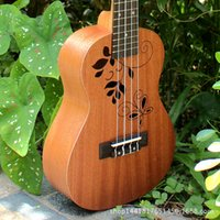 Wholesale Mini inch Mahogany Ukulele new beginner small guitar wood colour factory direct retail Musical Instruments