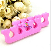 Wholesale Soft Form Finger Toe Separator Nail Art Salon Manicure Pedicure Tools Pink New Pairs