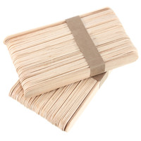 Wholesale 100pcs birch Disposable Wax Stick Wooden waxing medical tongue depressor Body Hair Removal Applicator Spatula Beauty health