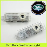 auto range rover - Auto Welcome Car Logo Light Projectors LED Car Door Shadow Lamps LED Light Logo Shadow Ghost Light For Range Rover Discovery Evoque