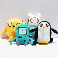 3-4 Years adventure time beemo - Cartoon Adventure time Plush Toys Jake Finn Beemo BMO Penguin soft Stuffed Toys cm EMS