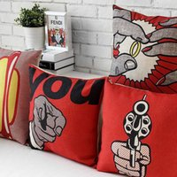 american roll cover - Offer The Rolling Stones Illustration Pillows Decorate Pope American Cushion Cartoon Comfortable Burlap Cushion Cover
