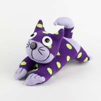Wholesale Christmas Show Sock - Wholesale-Handmade DIY Stuffed Purple Adorable Sock Cat Baby Show Toys Birthday Gifts Christmas New Year Soft Animals Doll