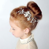 Wholesale Children Crystal Head Flower girls party princess Christmas party Wedding Hair Accessories Jewelry New Style