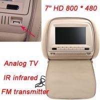 analog tv transmitter - 2pcs quot X480 LCD Car DVD Headrest Monitor Player Analog TV Bits Games IR Infrade FM Transmitter MP3 USB SD Remote Control