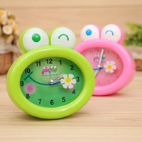 Wholesale 12pcs Cute Frog Pattern Alarm Clock Cartoon Animal Style Quartz Bell Children s Bedroom Table Accessories sw309
