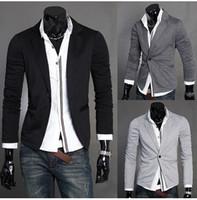 korean men fashion - Top Korean Jacket Fashion brand Top design Knit Blazer one button design Casual suit Men s Casual Suit