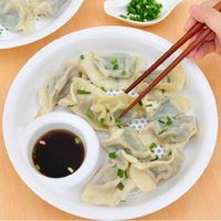 Wholesale Dumplings dish Food grade PP Large size double fruit Drain dish cm Vinegar dish cooking tool Q