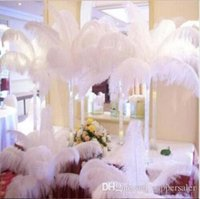 craft and party supplies - Hot Per Natural White Ostrich Feather Plume Craft Supplies Wedding Party Table Centerpieces Decoration many colors and sizes