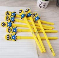 art supplies retail - 2015 Despicable Me Minions Minion Gel Pens Cartoon Cute Children Kids Students Pen School Prize Supplies Stationery Pens with Retail Package