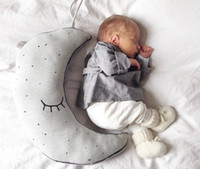 baby moon pillows - 2016 cute Cotton Glow In The Dark Pillows baby Luminous Moon Placate Stuffed Toys For Children sleep kids Room Decorative Cushion Pillow