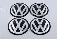 Wholesale 4Pcs Car VW Wheel Center Stickers Fits Volkswagen Hub Cap Stickers mm BLACK VW CM wheel center emblems top quality