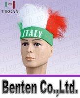 Wholesale Brazil World Cup Brazil headband promotional gifts crazy fans wig cap spirit LLFA2298F