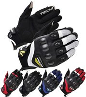 Wholesale 2016 New RS TAICHI RST spring summer short paragraph motorcycle racing gloves carbon fiber mesh motorbike glove size M L XL