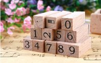 Wholesale 5sets korea cute diy creative stamp set diary decoration numbers stamp set include