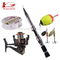 Cheap Hot Sale ! Lowest Price Fishing Rod Set Fishing Stick DE30 Reel With Line Fishing Tackle 2.1m Carbon Telescopic Fishing Rod