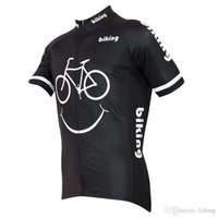 Wholesale 2015 Newest Carton cycling tops short sleeves smiley shirts size XS XL cycling jersey tops
