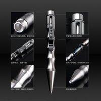 business equipment - TP6A tactical defense pen outdoor self defense equipment broken window is a business pen Blue lighting