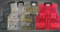 Wholesale Men Outdoor Spring Summer Photography Vest Quick Dry Multi pocket Hunting Vest Reporter Waistcoat Men Outdoor Fishing Vest Quick Dry