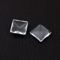Wholesale 50Pcs mm Squaresemi circle glass cameo Cabochon setting time gem paster glass paster of hemisphere