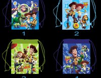 Wholesale new fashion TOY STORY children favorite carttoon mix Hans non woven string backpack pouch for kids children s gift school bag