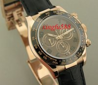 auto chocolate - Luxury k Rose Gold Chocolate Dial Bezel Automatic Mechanical Mens Watch Men s Sport Wrist Watches Leather Strap
