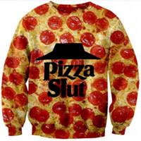 bad food - New men women s tops D letter print Pizza Slut Breaking Bad funny food sweatshirts autumn hoodies sport suirts tracksuirt