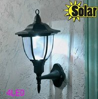 ancient lamps - Outdoor Ancient Solar Wall light Lamp LED Palace design Fence Corridor Lights Garden Yard Pathway Stair Lamps Mounted Lighting