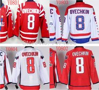 authentic alex ovechkin jersey - Factory Outlet New Arrival Discount Alex Ovechkin Hockey Jersey Best Quality Alex Ovechkin Authentic Red Jersey Embroidered Logos HOT