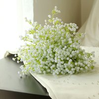Wholesale Artificial PU Gypsophila Bouque Flowers Wedding Fake Babysbreath Flowers Christmas Party Table Decoration Bouquet Simulation Babys Breath