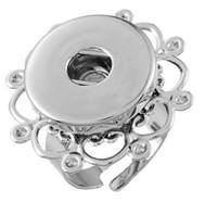 NOOSA ajustable rosa de oro y plata anillos de la flor del Pedazo de Botón Snap Anillo de BRICOLAJE Noosa jengibre intercambiables de la Joyería para las mujeres