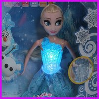 Wholesale Frozen Musical Elsa Doll Toys Singing Let it go And Glow We Have Youtube Video Kids Girl Learning Machine Princess Doll Kids Toys